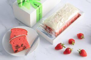 たっぷり苺のパウンドケーキ